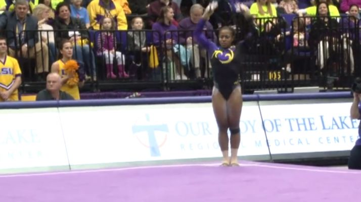 Gymnast Proves To Be The Baddest Athlete Of All Time, Has Coolest Routine Ever