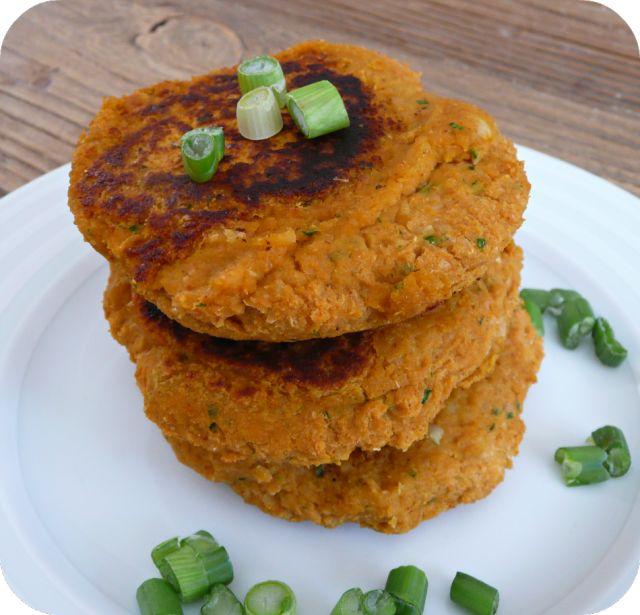 Galettes pois-chiche patate douce pour burgers | Petits plaisirs sans gluten mais sans farine de riz non plus !