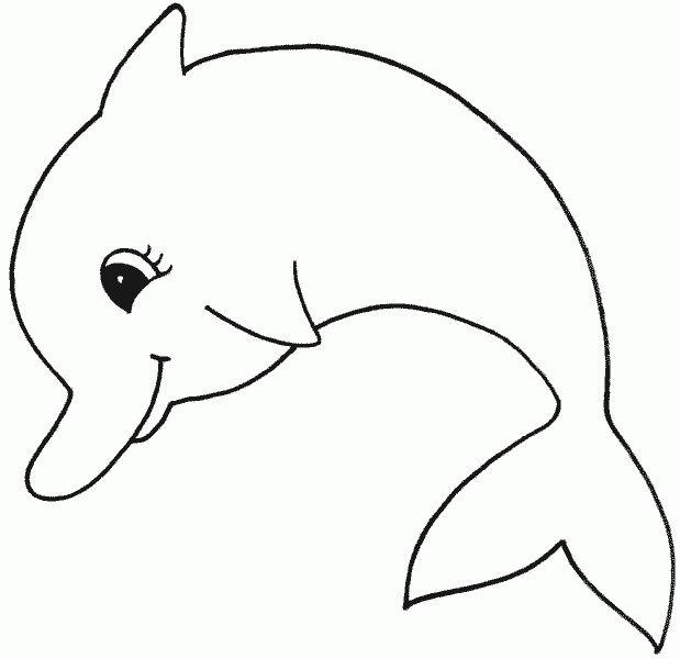 Ausmalbild Sommer Lustiger Delfin Kostenlos 4