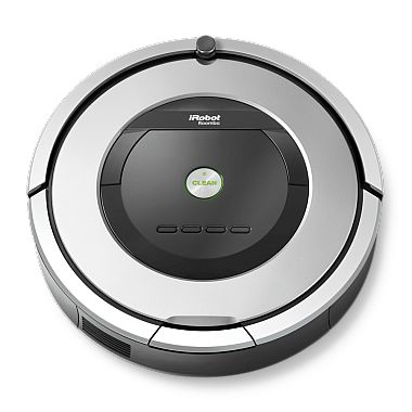 Our Roomba 860 model features the AeroForce™ 3-Stage Cleaning System and Tangle-Free AeroForce™ Extractors and is proven to remove up to 50% more* dirt, dust, hair and debris from all floor types. Just press CLEAN on the robot or schedule to clean while you're not home.