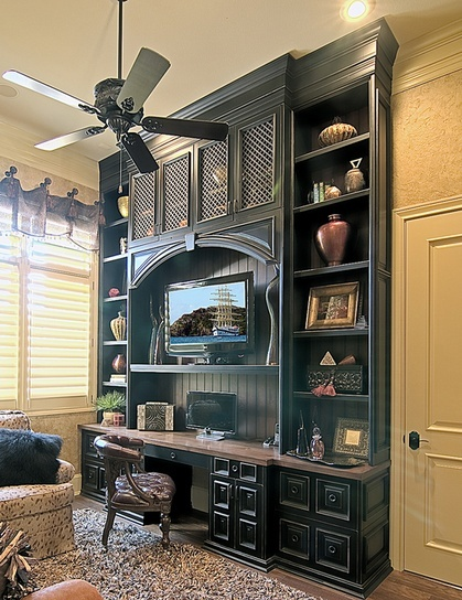 Custom built in desk and bookcases Love this