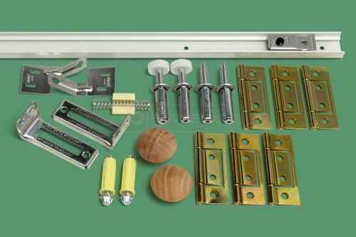 4 Bifold Door Track And Hardware Kit 4 Panel In 2019