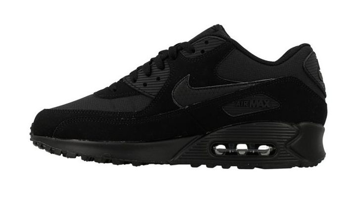 Nike Air Max 90 Essential Men's Running Training Shoes Triple Black 537384-046 #Nike #Trainers