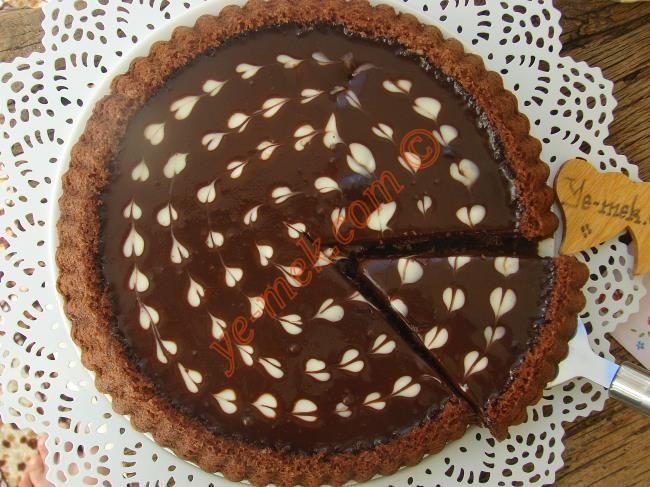 Ganajlı Çikolatalı Tart Kek Resimli Tarifi - Yemek Tarifleri