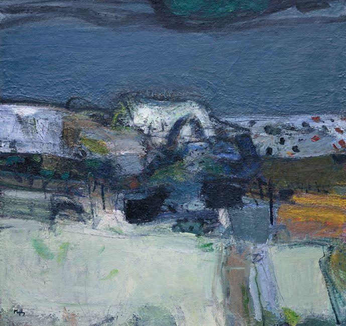 12. Sandy Murphy RSW RGI PAI, 'The Law, West Kilbride', oil on linen, 42 x 44 ins