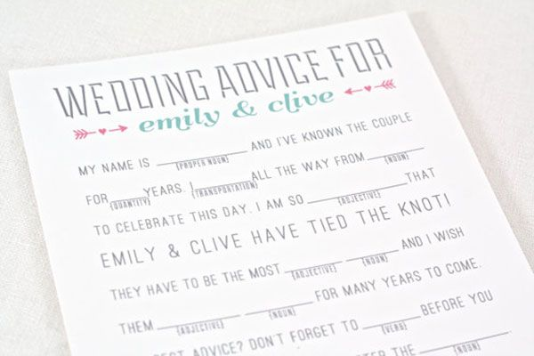Table Games: Mad Libs