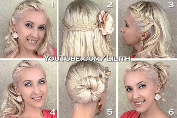 Everyday hairstyles for medium/long hair. Quick, cute and easy!