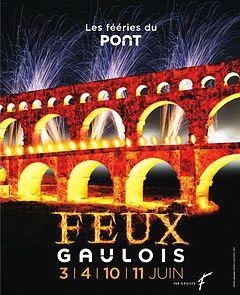 Fééries du Pont au Pont du Gard, Spectacle son et lumière, feu d'artifice