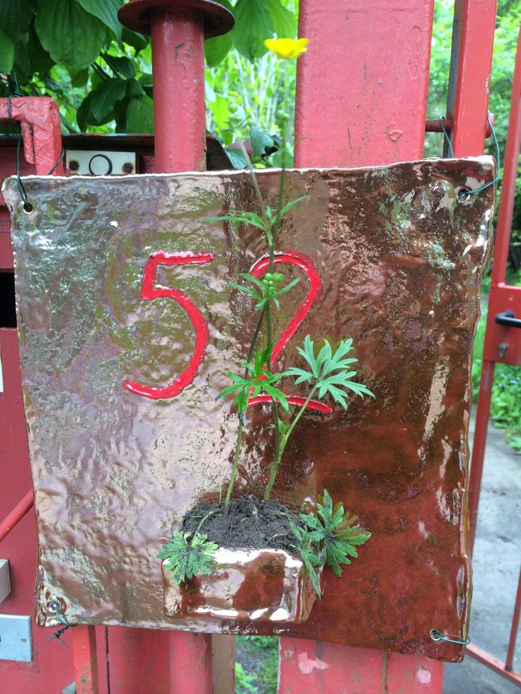 Hausnummer - Nummernschild - number - Pflanzschale - Blumentopf - Deko - Dekoration - 2014 - Keramik - ceramic - Ton - Paperclay - getöpfert - Pottery