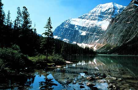 Jasper, Alberta Canada.  Jasper is a small town nestled in the Rockies, a kind of must see on you're way thorough from BC to Alberta.  Loads of wildlife everywhere, and majestic views of course.