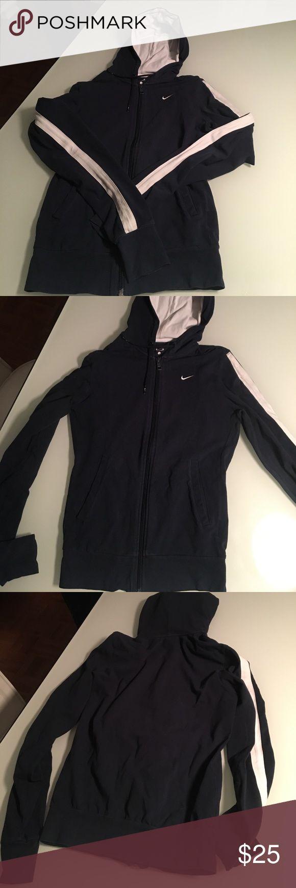 Nike Women's Full-Zip Hoodie Gently used Blue and white Nike Women's Full-Zip Hoodie Nike Other