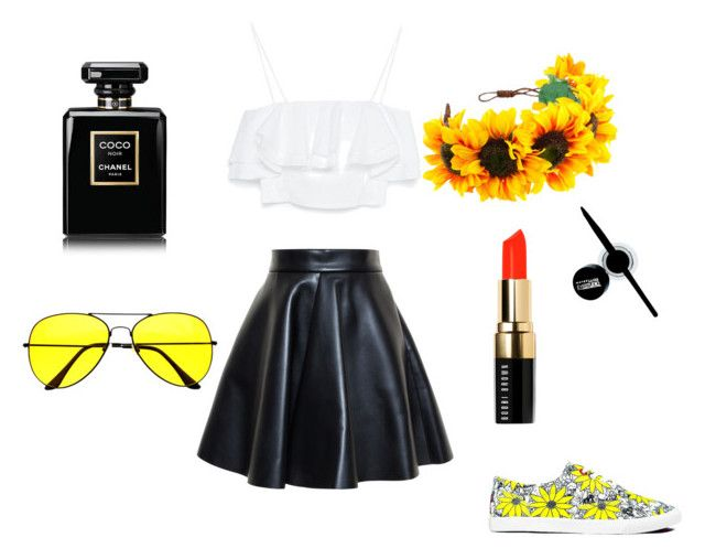 Summer set by anita-gyulai on Polyvore featuring Zara, MSGM, BucketFeet, Bobbi Brown Cosmetics, Maybelline and Chanel