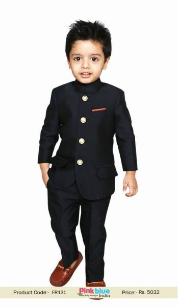 fb11f0ae0 Royal Indian Jodhpuri Suit with Trouser for Kids Boys | Bandhgala ...