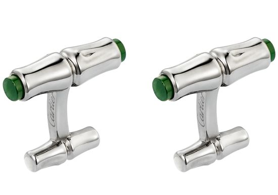 Sterling Silver and Jade Cufflinks from Cartier   http://www.hommestyler.com/christmas-gift-ideas-for-men/