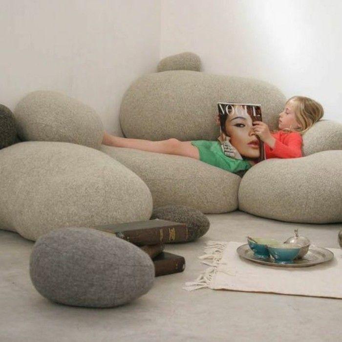 Kinderzimmer Möbel Couch Kieselstein Form