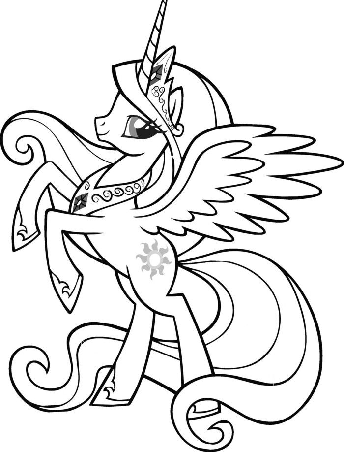 my little pony queen twilight sparkle coloring pages ...