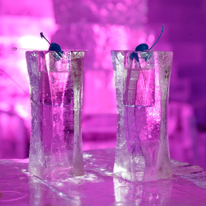Enjoy a drink at the Minus 5 Ice Bar at the Mandalay Bay Hotel