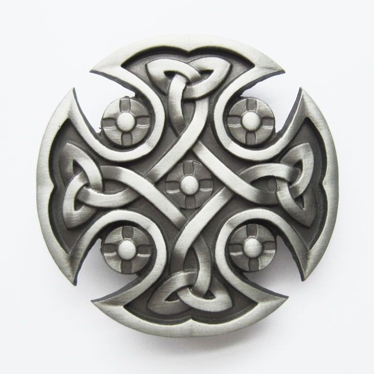 Antique Silver Lead Free Celtic Cross Circle