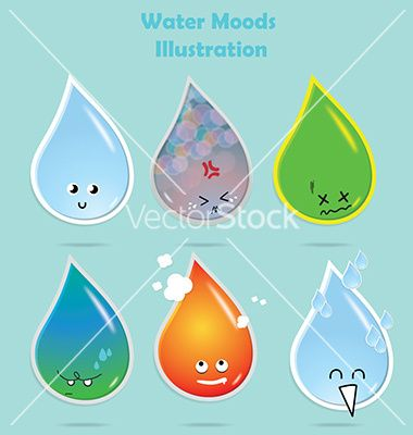 Water moods vector 3356233 - by Fatichah on VectorStock®