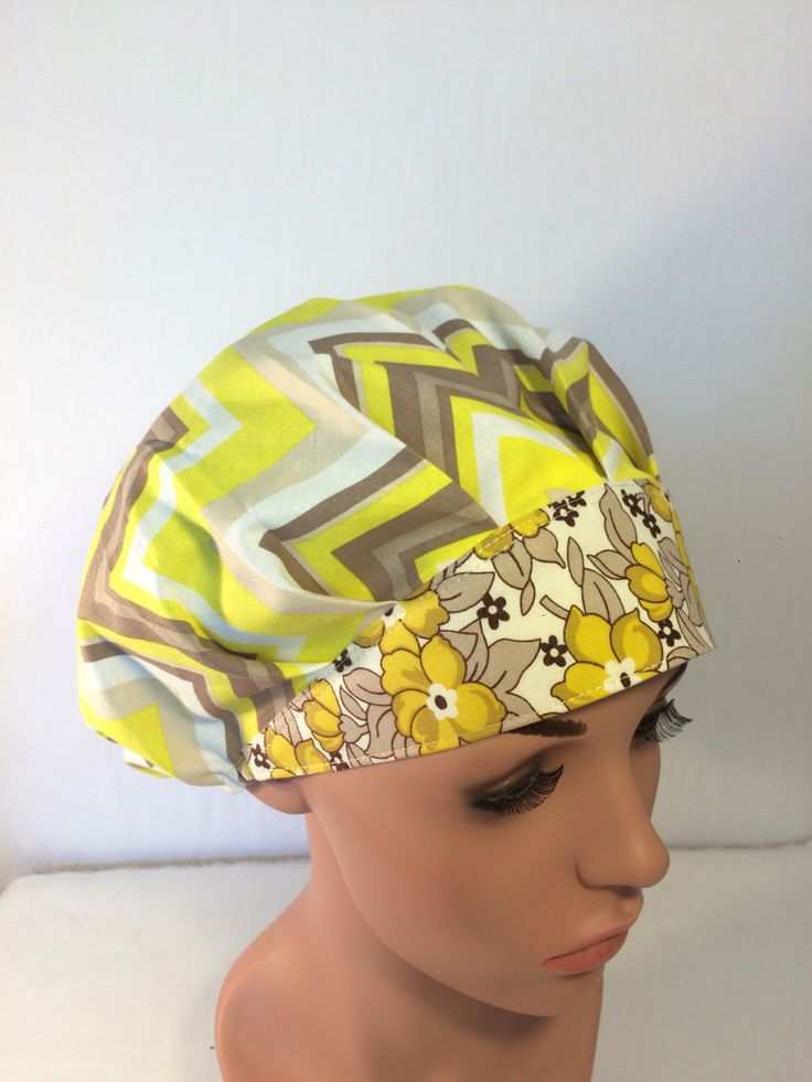 A personal favorite from my Etsy shop https://www.etsy.com/listing/452541336/bouffant-surgical-scrub-hat-scrub-cap