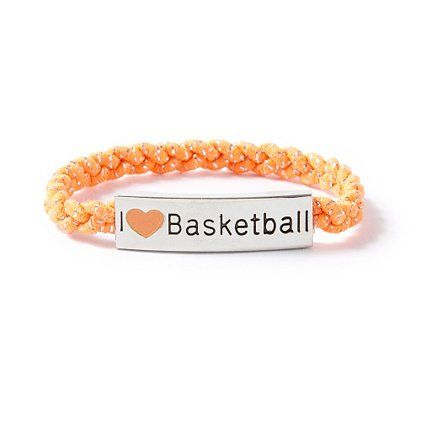 I <3 Basketball Nameplate Cord Bracelet | Claire's