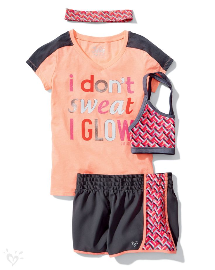You were born to be fierce so be unstoppable in our matching tees shorts headbands and sports ...