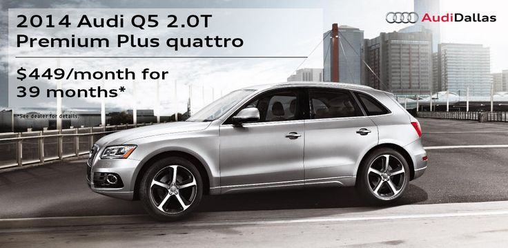 Looking to get a deal on a Q5? We have lease specials that make it easy right now! Stop in! #Audi #AudiUSA