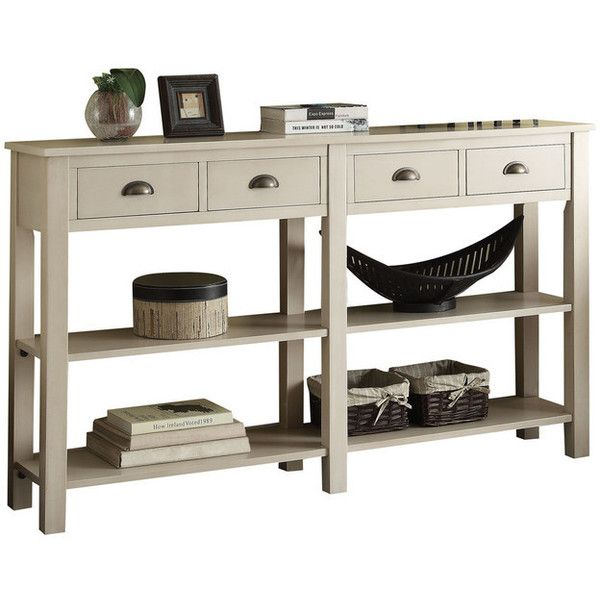 Galileo Console Table, Cream - Transitional - Console Tables - by Acme... ❤ liked on Polyvore featuring home, furniture, tables, accent tables, ivory table, alabaster table, antique white console table, bone furniture and transitional furniture