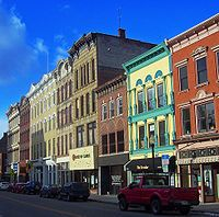 Poughkeepsie, New York - Main Mall Row, of of many Registered Historic Places in the city.