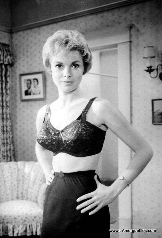PSYCHO (1959) - Janet Leigh in bra & slip - Based on book by Robert Bloch - Directed by Alfred Hitchcock - Paramount - Publicity Still.