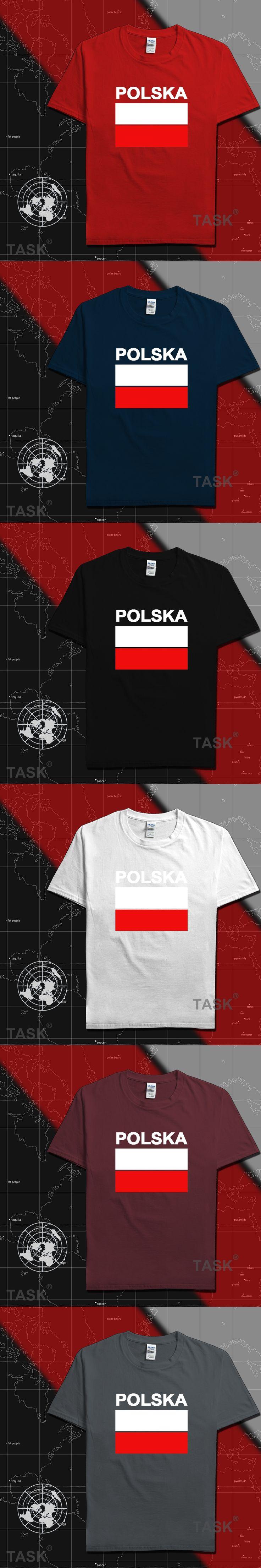 Poland men t shirts Polish POLE 2017 jerseys hip hop nations cotton t-shirt fitness footballs tees country POLAK flags Polska