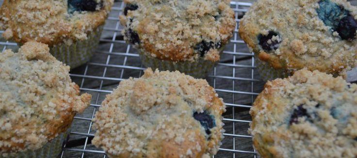 Muffin met bosbes en banaan   Lekker Tafelen