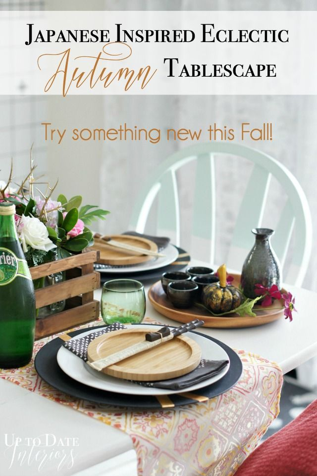 Autumn tablescape and blog hop featuring 25 of your favorite bloggers! Try something new this Fall with a Japanese Inspired Eclectic table.