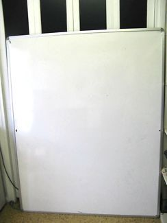$70 LARGE WHITE BOARD Double sided Black Vinyl Lines 150x120cm Text 0411691171 or email info@bitspencer.com