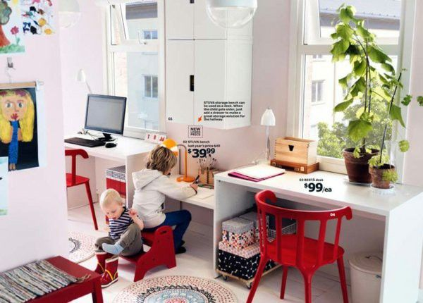 IKEA catalog trends ideas inspiration Desk Red 2014