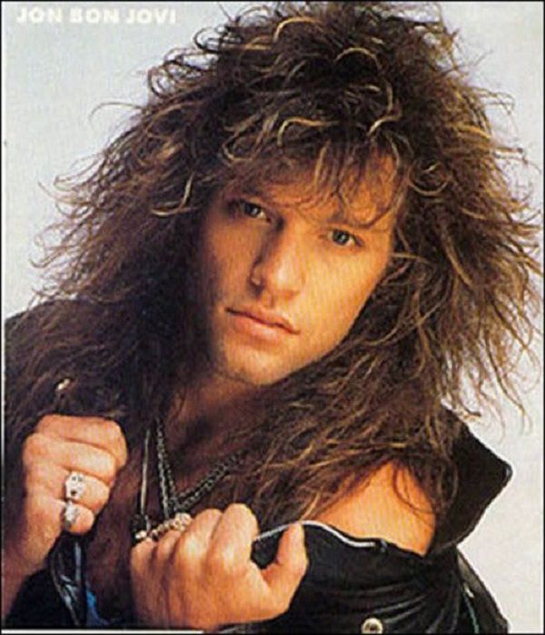 Hairstyle Evolution The 40 Best Men S Hairstyles In 40 Years Jon Bon Jovi Bon Jovi 80s Hair