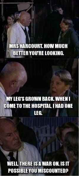 """One of my favorite Who moments. Because even on Doctor Who, Gaius is still Gaius."" Agreed!!! XD (Also, did you Merlin fans catch that the hospital is named Albion Hospital?)"