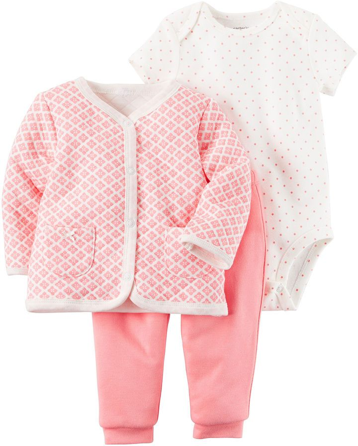Carter's 3-pc. Grid Pant Set Baby Girls