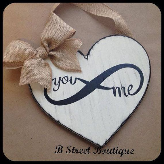 Heart You & Me Wooden Sign by bstreetboutique on Etsy, $18.00