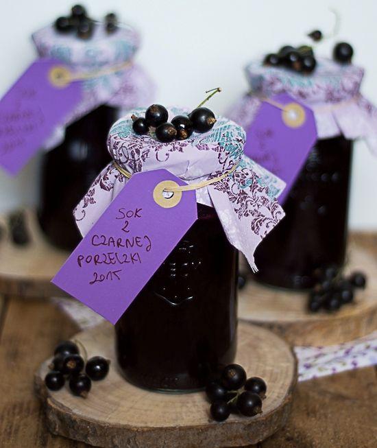 Domowy sok z czarnej porzeczki