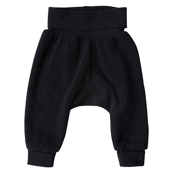 For Infants and Babies Unisex Zutano Cozie Fleece Baby Cuff Pants Fits Cloth Diapers