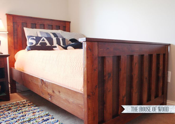 Woodworking Bed : Twin Bed Wood Frame Plans - WoodWorking Projects & Plans