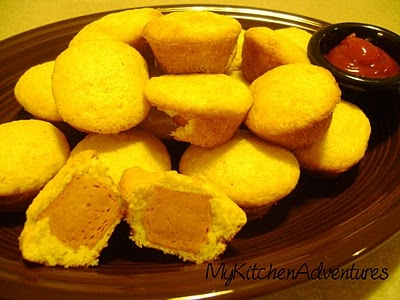 Jiffy Corn Dog Mini Muffins - my kids love Corn Dogs, at least this way I know what's in it.