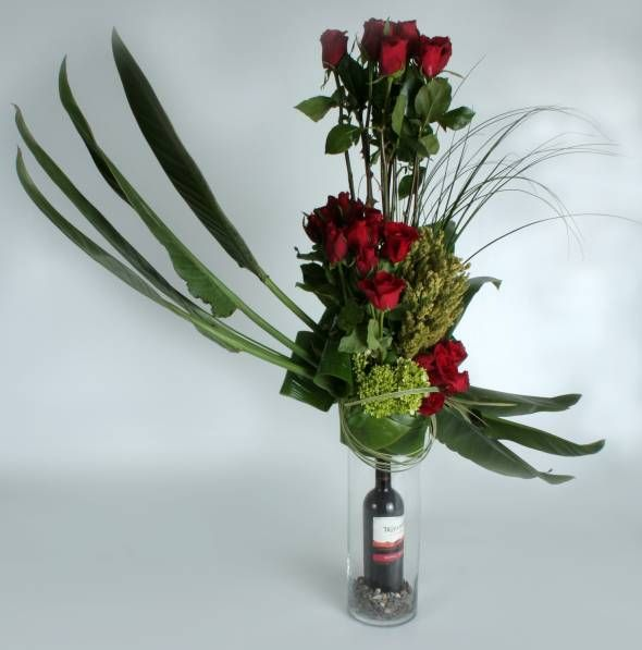 Botella en cristal - Regalo para hombre: Flower Arrangements, Glass, Annafiori Flower, Floral Para, Floral Arrangements, Botella En, Flower Arrangement, Fruit Arrangements
