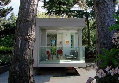 """בית קטן מוכן מראש. קומפקטי ביותר,שטחו 23.22 מ""""ר וזהו הפתרון האולטימטיבי לדיור במחיר סביר."""