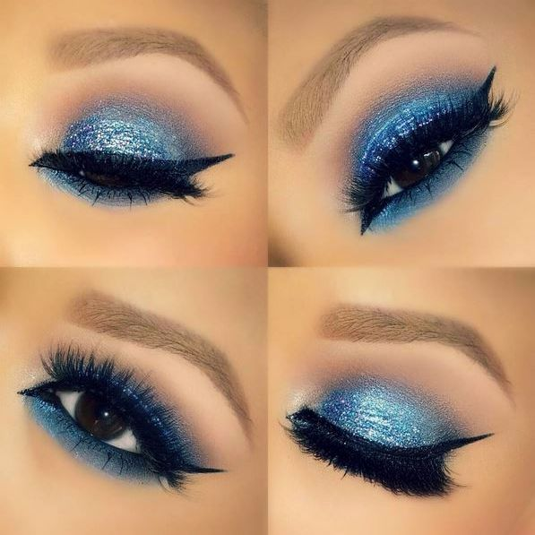 "makeupbymekaxo created this out-of-this-world look using ""Neptune"" and ""Earth"" from the Galaxy Chic Palette!"