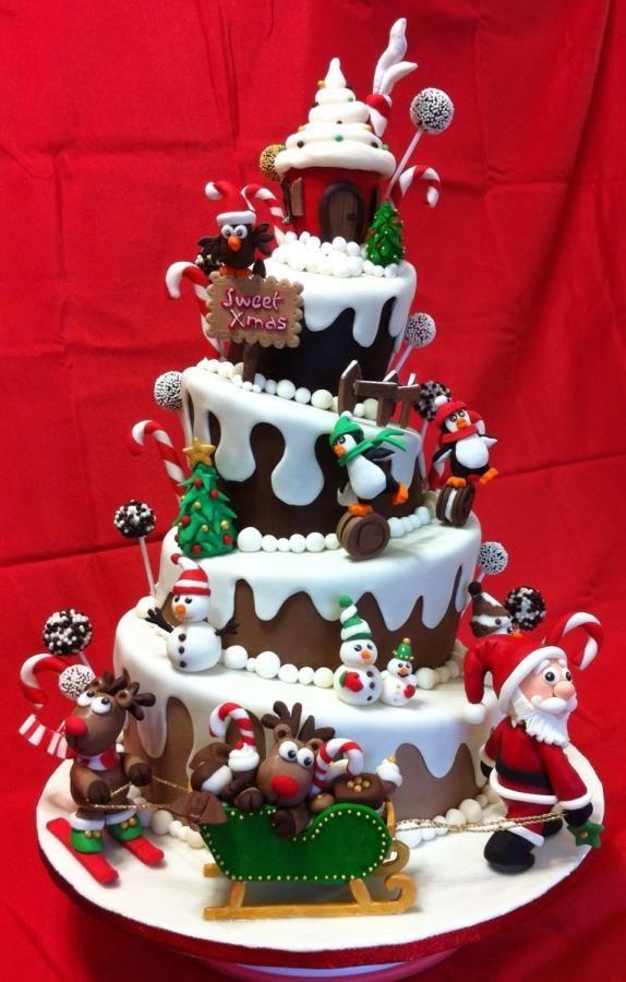 Weihnachts - Torte / Kuchen
