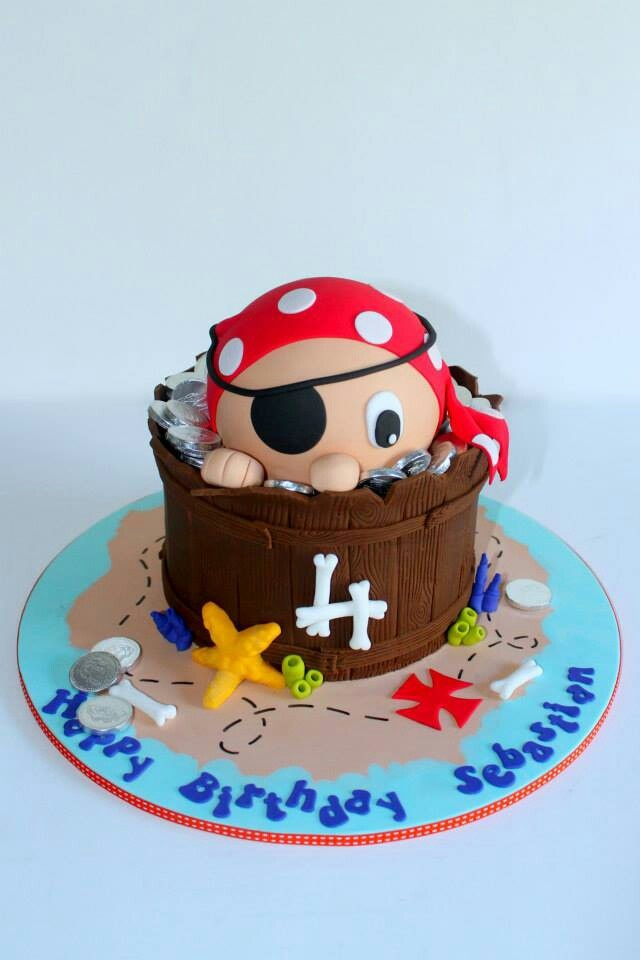 Pirate cake - By little wish cakes