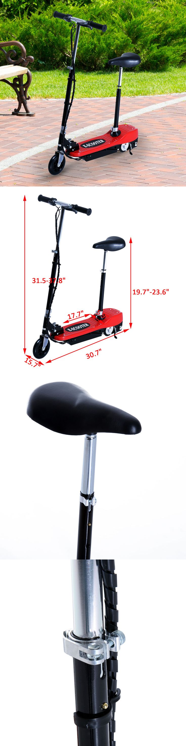 Electric Scooters 47349: Aosom Electric E Scooter Seat Kids Motorized Ride On Bike Battery Powered Red -> BUY IT NOW ONLY: $79.99 on eBay!