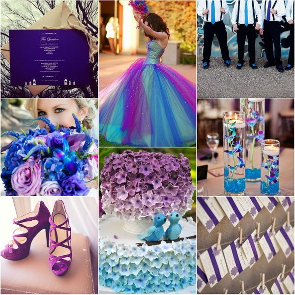 blue and purple wedding colors  for winter 2013~2014